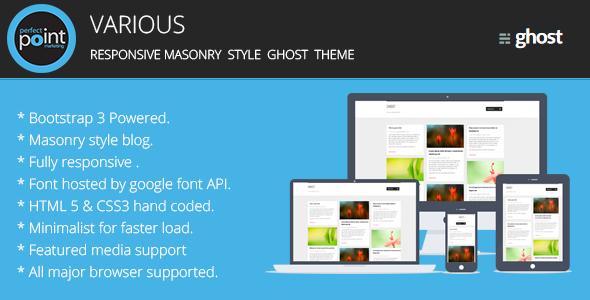 Various - Responsive masonary style ghost theme