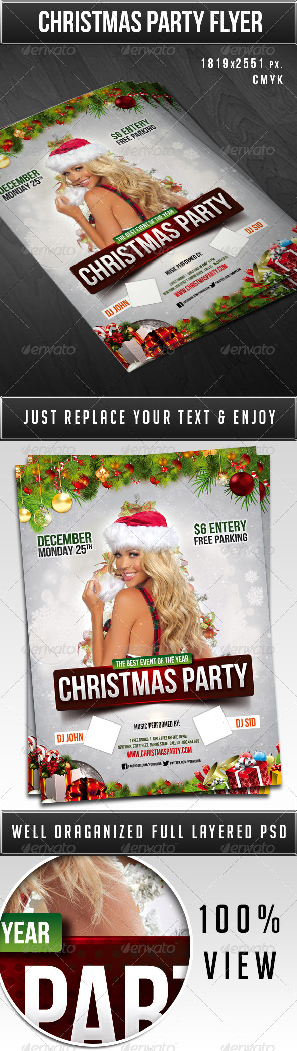 Christmas party flyer - Print Templates