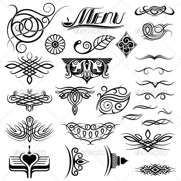 Design Elements Set - Decorative Vectors