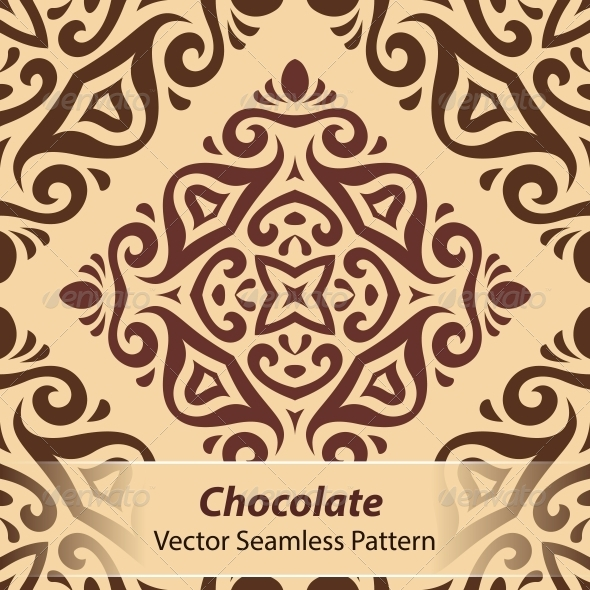 Chocolate Vector Seamless Pattern - Patterns Decorative