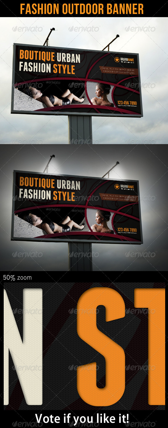 Fashion Outdoor Banner 16 - Signage Print Templates