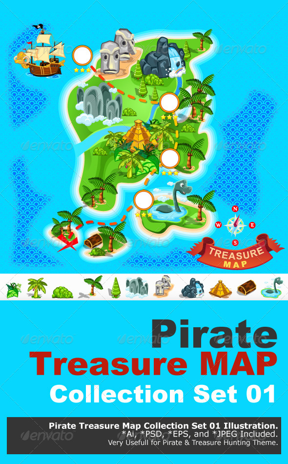 Pirate Treasure Map - Miscellaneous Characters