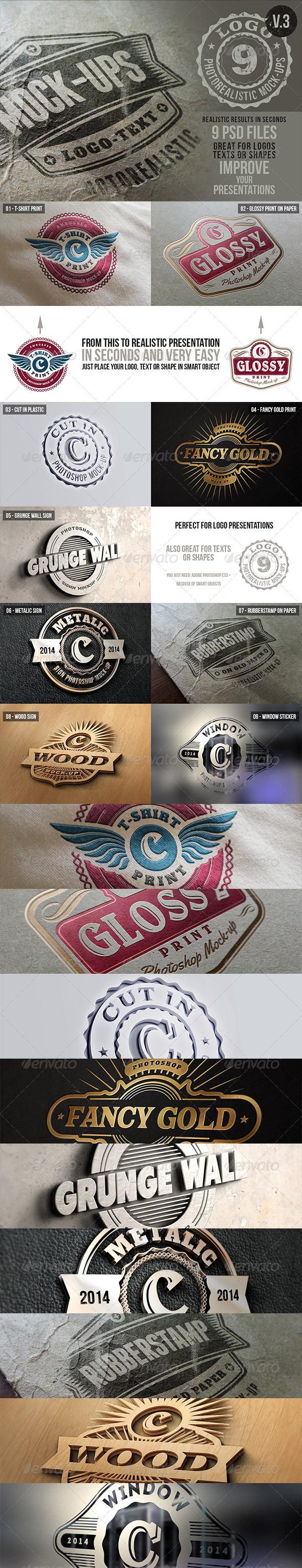 Photorealistic Logo Mock-Ups Vol.3 - Logo Product Mock-Ups