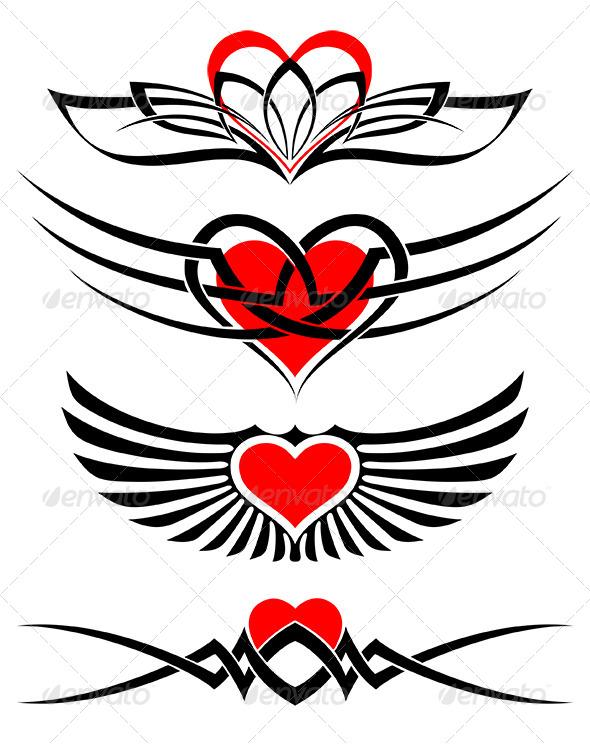 Love Tattoo Set - Tattoos Vectors