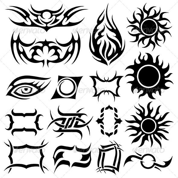 Tattoo Set - Tattoos Vectors