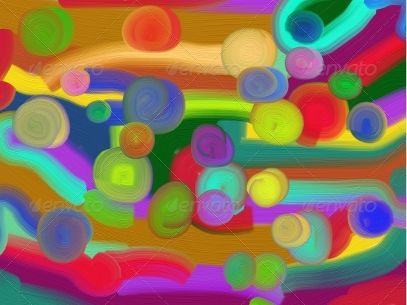 Abstract painted background - Abstract Illustrations