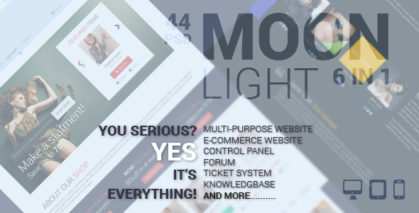 MoonLight Multipurpose/eCommerce PSD Template - PSD Templates