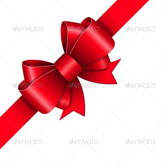 Red Ribbon Bow - Miscellaneous Seasons/Holidays
