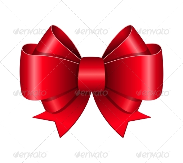 Red Bow Symbol - Miscellaneous Seasons/Holidays