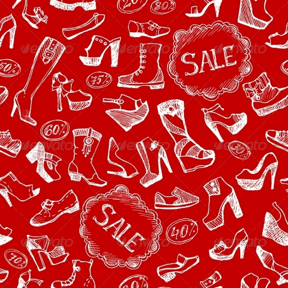 Seamless Shoes Background - Backgrounds Decorative
