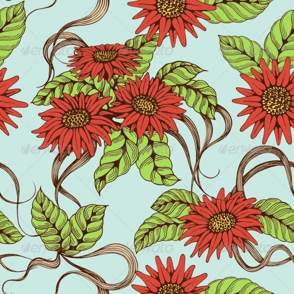 Romantic Seamless Pattern - Backgrounds Decorative