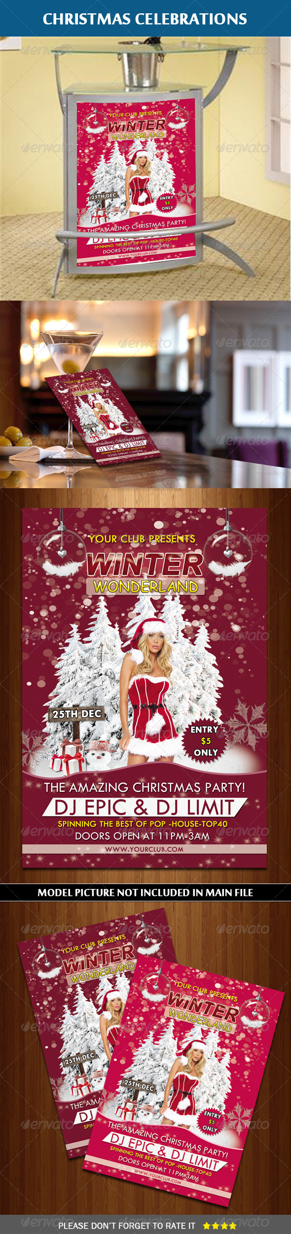 Winter Wonderland Flyer - Clubs & Parties Events