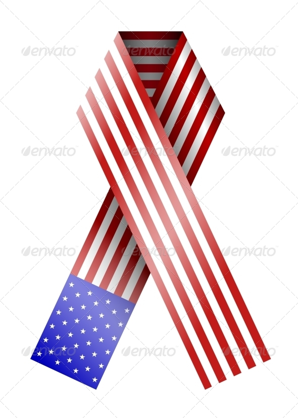 4th of July Ribbon - Miscellaneous Vectors