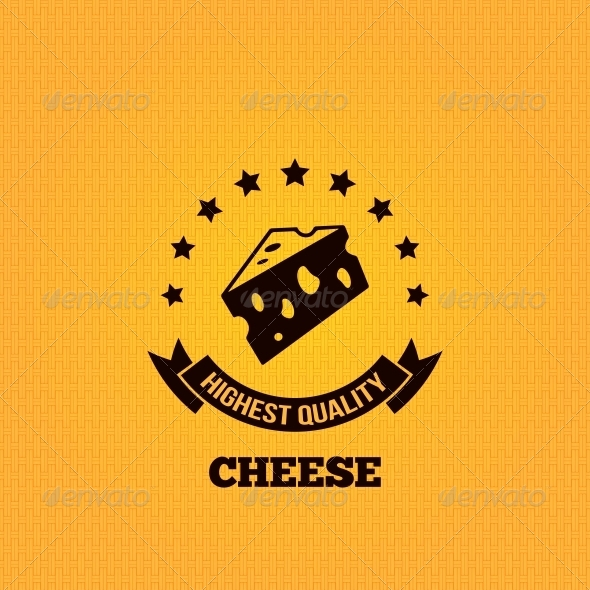 Cheese Vintage Label Design Background  - Food Objects