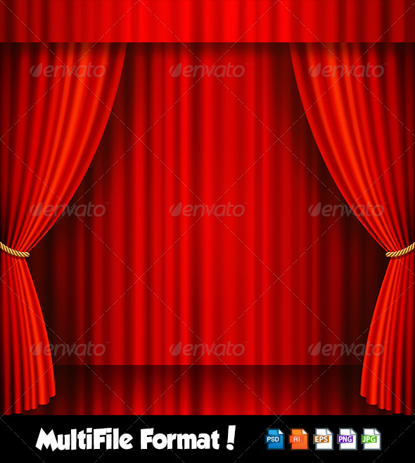 Red Velvet Vector Theater Stage - Buildings Objects