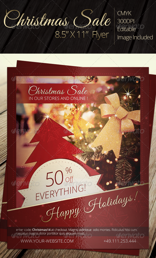 Christmas Sale Flyer - Holidays Events