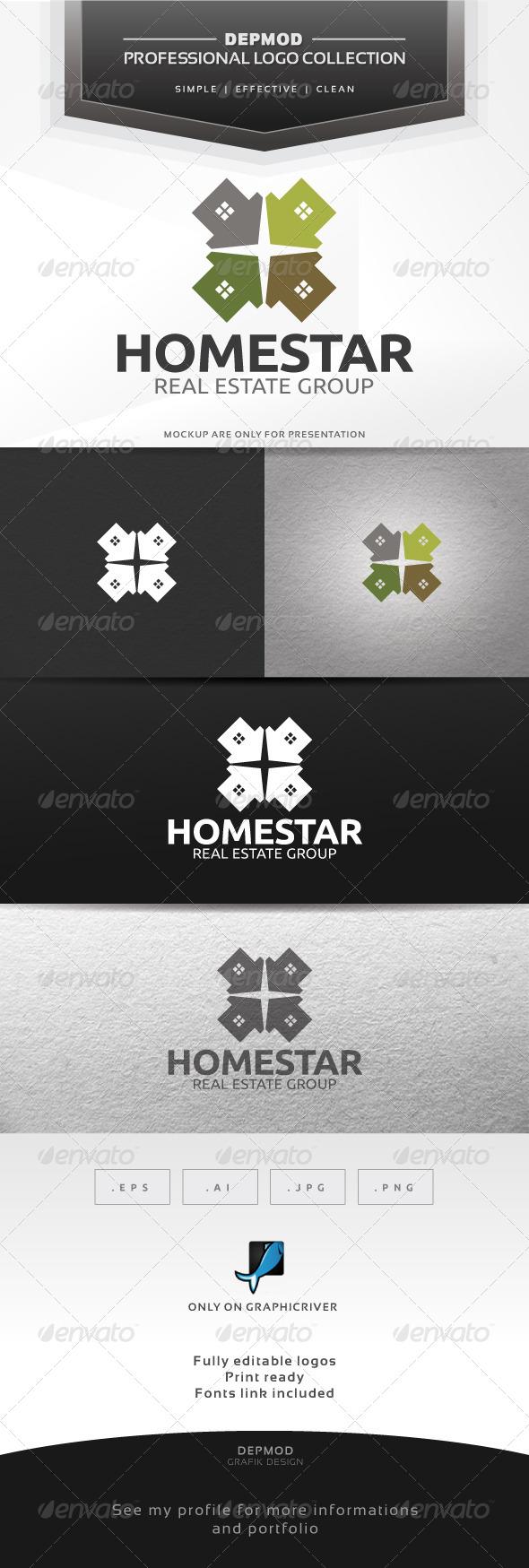 Home Star - Buildings Logo Templates