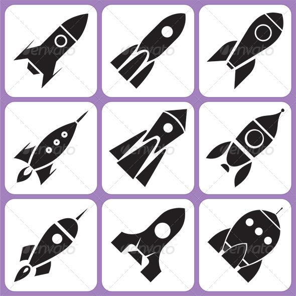 Rocket Icons Set - Miscellaneous Vectors