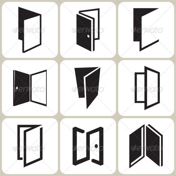 Door Icons Set - Miscellaneous Conceptual