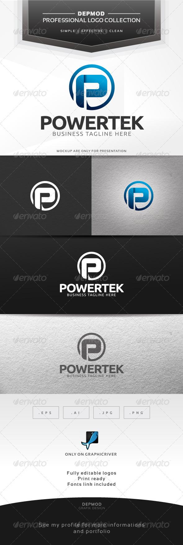 Powertek Logo - Letters Logo Templates