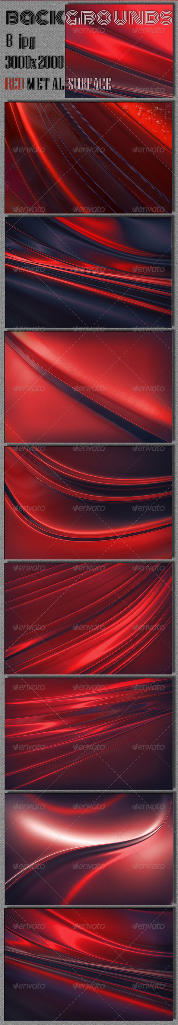 Red Steel Background - Abstract Backgrounds