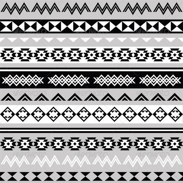 Tribal Ethinc Ztec Seamless Pattern - Patterns Decorative