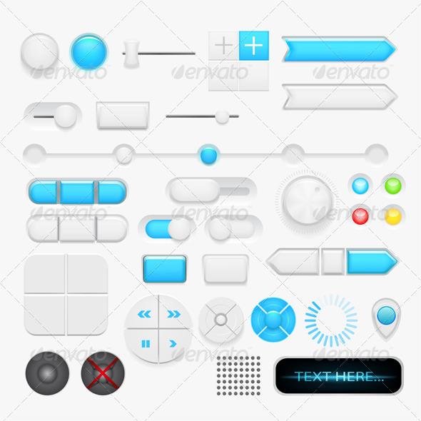 Button Set - Decorative Vectors
