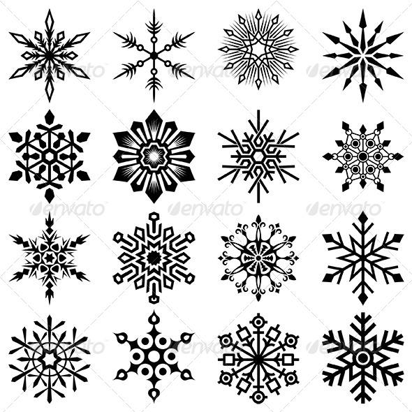 Snowflakes Vector Set - Decorative Vectors