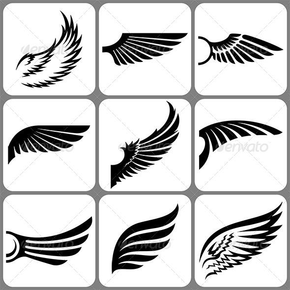 Wings Set - Miscellaneous Vectors