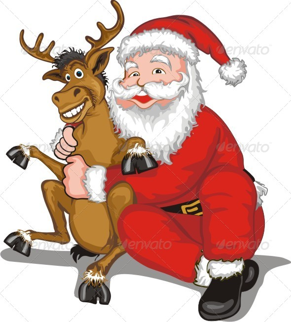 Santa and Reindeer - People Characters