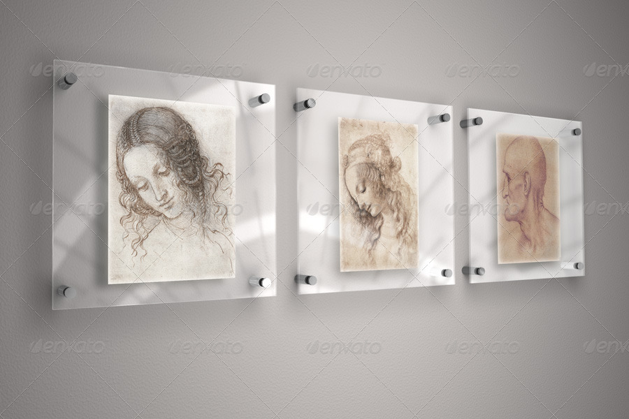 glass frame for mock up by braxas graphicriver