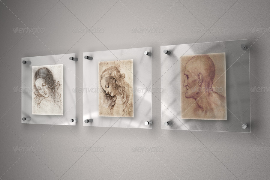 Glass Frame for Art - Mock-Up by Braxas | GraphicRiver