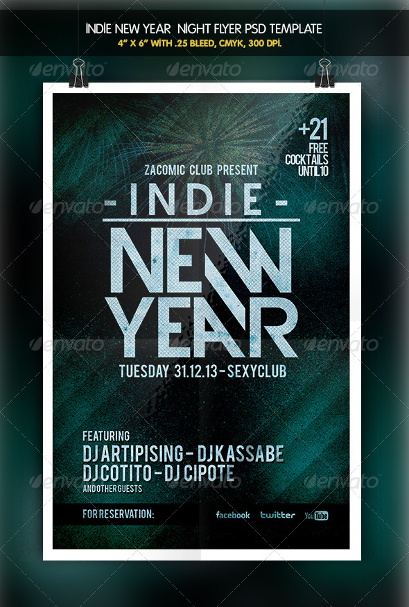 Indie New Year - Clubs & Parties Events