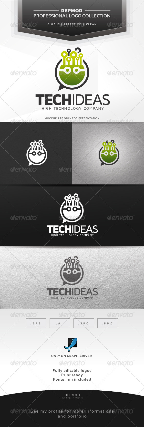 Tech Ideas Logo - Abstract Logo Templates