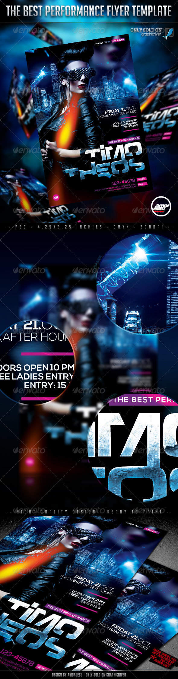 The Performance Flyer Template - Clubs & Parties Events