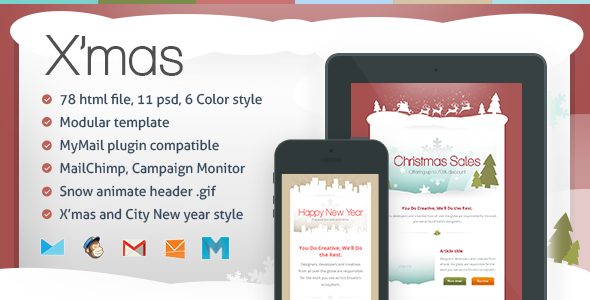 X'mas – Responsive Email Template