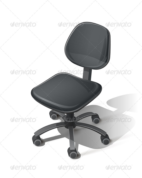 Black Office Chair - Man-made Objects Objects