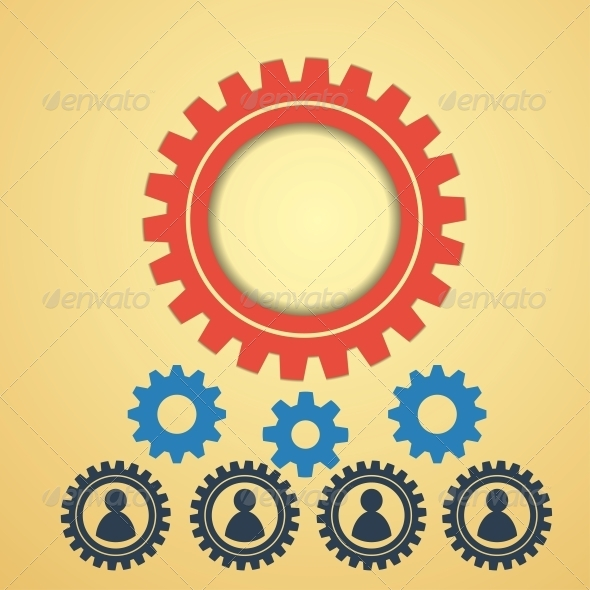 Gears on a Creative Background - Web Technology