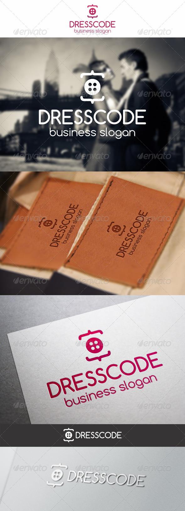Dress Code Clothing Logo - Symbols Logo Templates