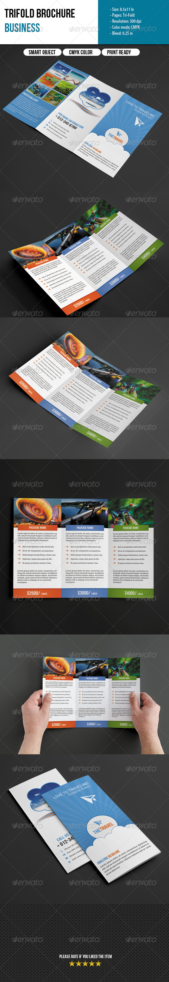 Trifold Brochure-Travel Business - Informational Brochures