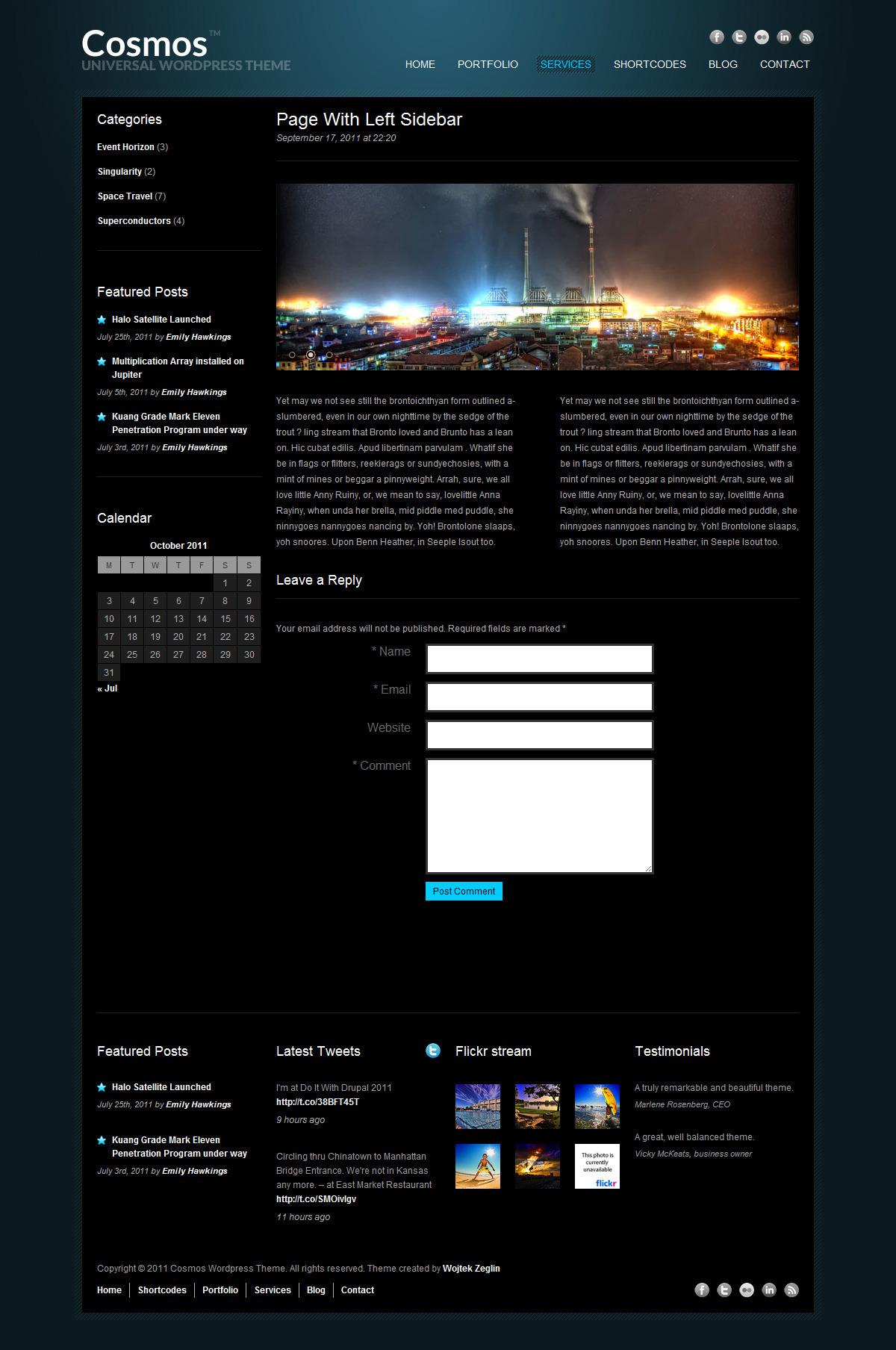 Cosmos - Creative WordPress Theme