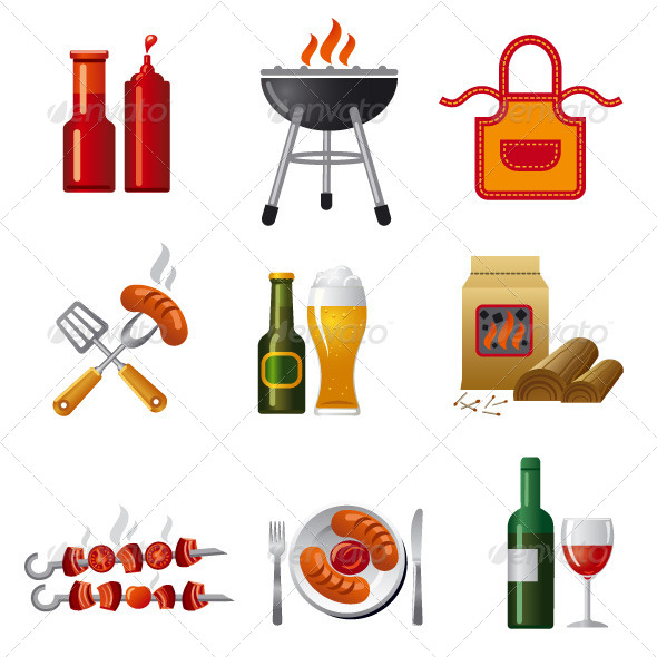 Barbecue Icon Set - Icons