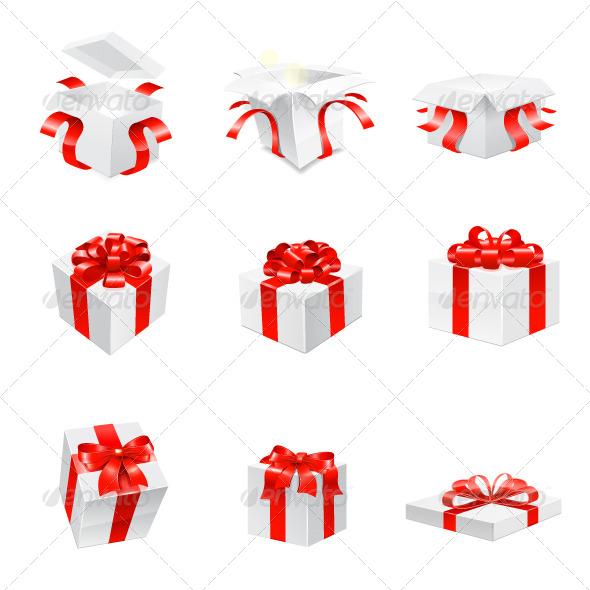 Gifts Set - Decorative Vectors