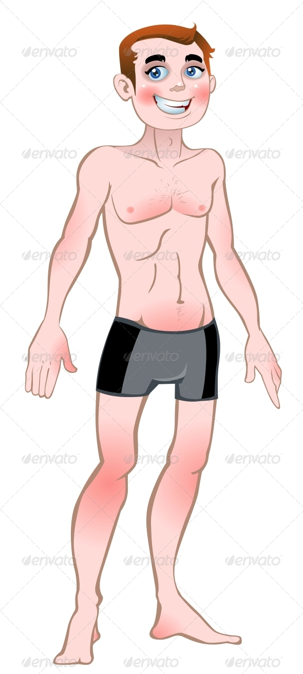 Naked Vector Man - People Characters