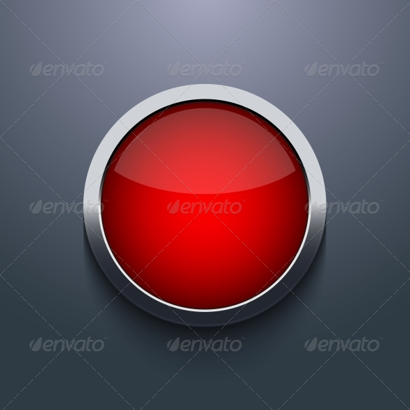 Vector Web Button Design on Gray Background - Web Technology