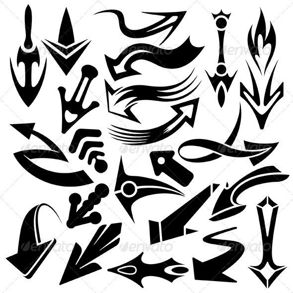 Arowhead Pointers Set - Miscellaneous Vectors