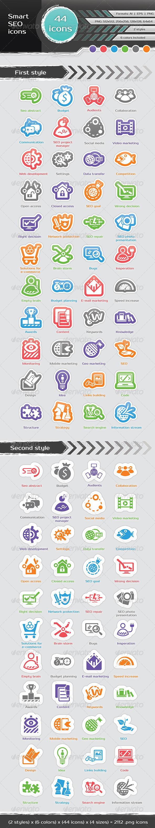 Smart SEO Icons - Icons