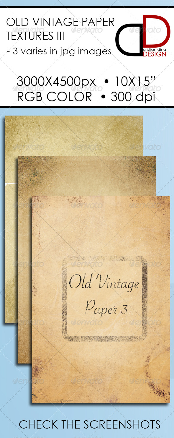 Old Vintage Paper Texture III - Patterns Backgrounds