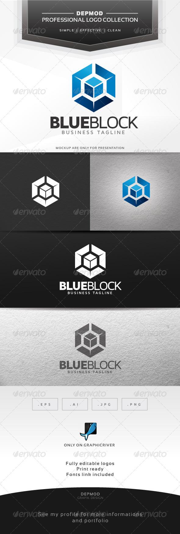 Blue Block Logo - Abstract Logo Templates