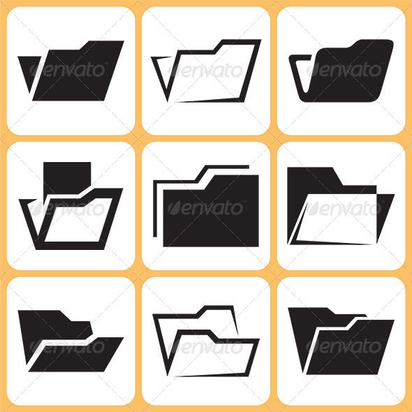 Folder Icons Set - Miscellaneous Conceptual